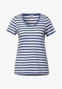 Street One - MIT STREIFEN MUSTER - Print T-shirt - blau - 3