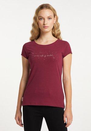 MINT A ORGANIC - Print T-shirt - wine red