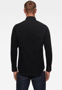 G-Star - 3301 SLIM LONG SLEEVE - Shirt - dk black gd - 1