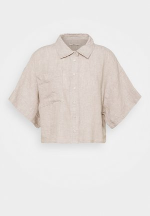 WELLIE LINEN SHIRT - Button-down blouse - beige