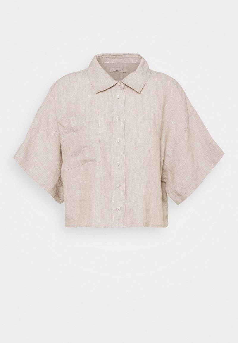 Gina Tricot - WELLIE LINEN SHIRT - Skjorte - beige