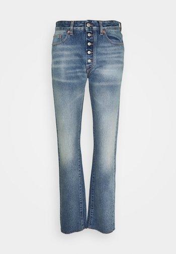 Straight leg jeans - mottled dark grey