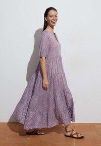 OYSHO - LONG STAMP  - Maxi dress - mauve - 1