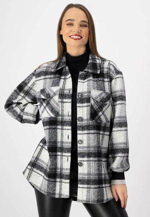 Short coat - anthrazit karo