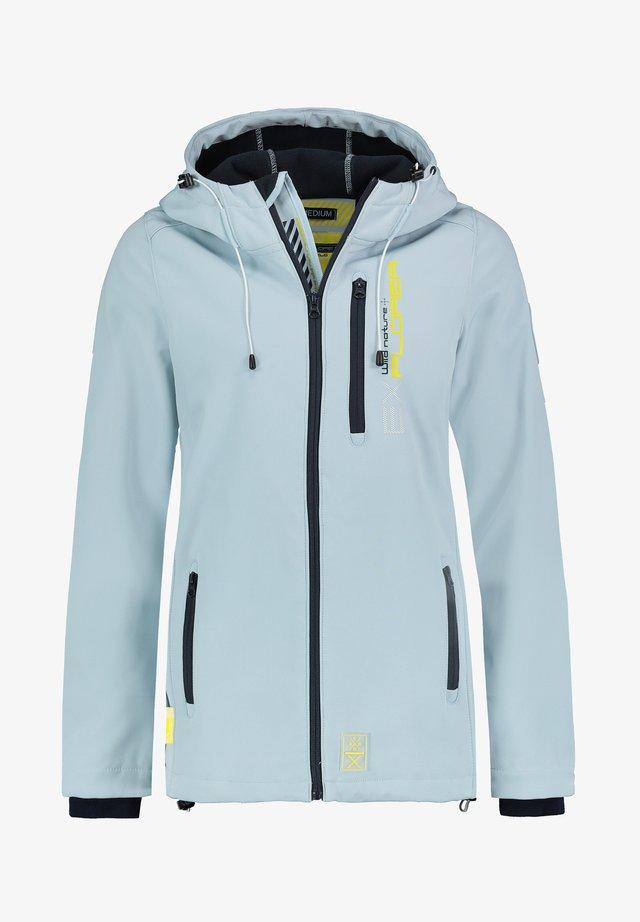 Soft shell jacket - light-blue