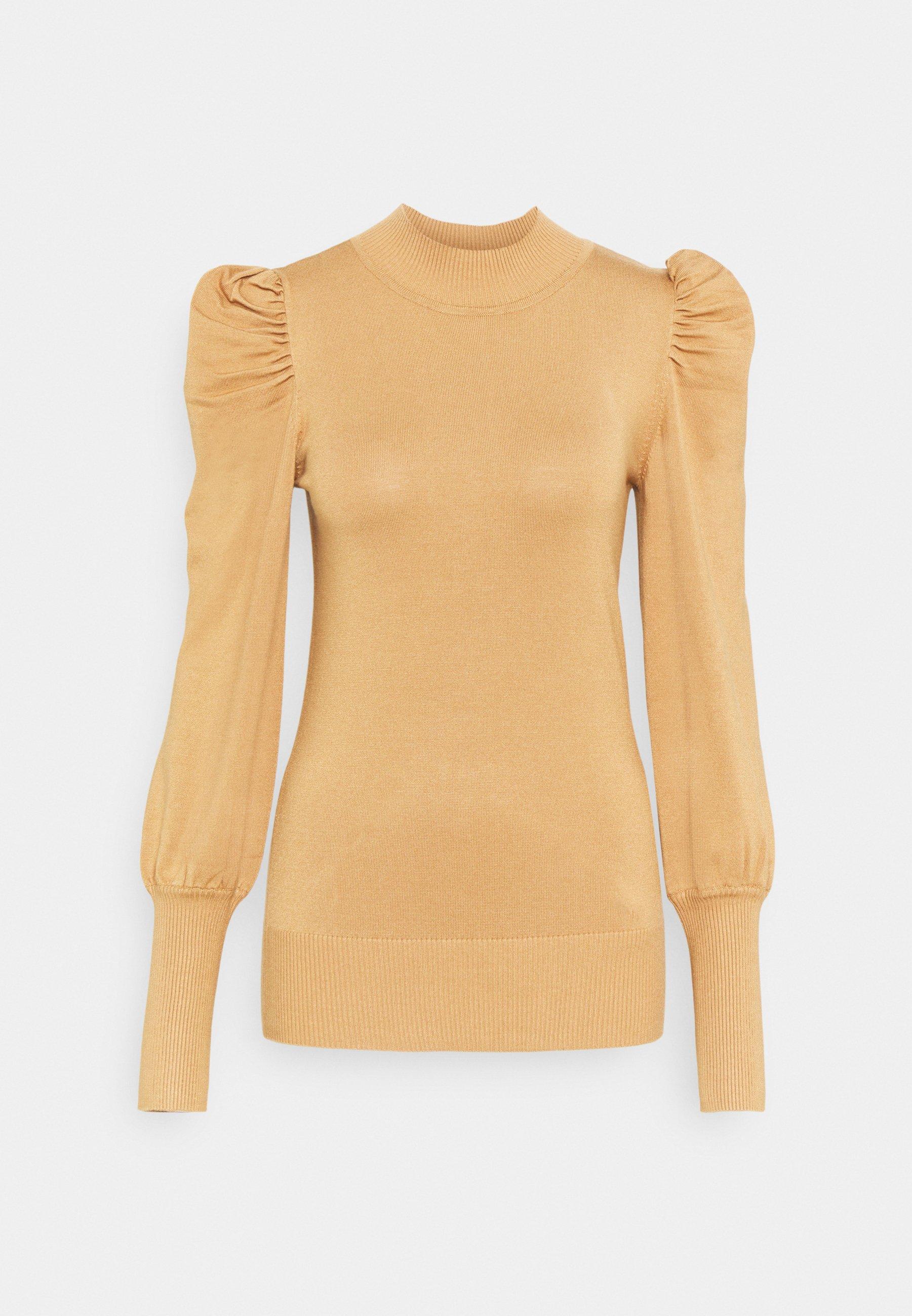 Femme TALL PINK FINE GAUGE VOLUME SLEEVE JUMPER - Pullover