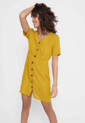 ONLVIVA LIFE - Shirt dress - golden spice
