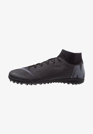 MERCURIAL SUPERFLYX 6 ACADEMY TF - Astro turf trainers - black/anthracite/light crimson