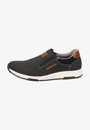 Sneakers laag - grau-schwarz/mogano