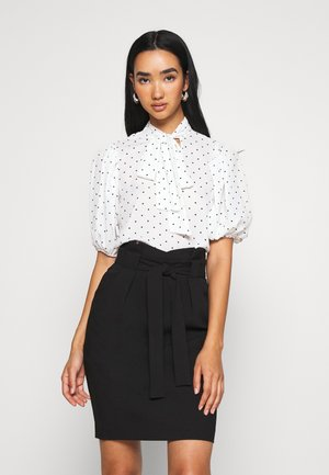 CROP SPOT - Blouse - ivory