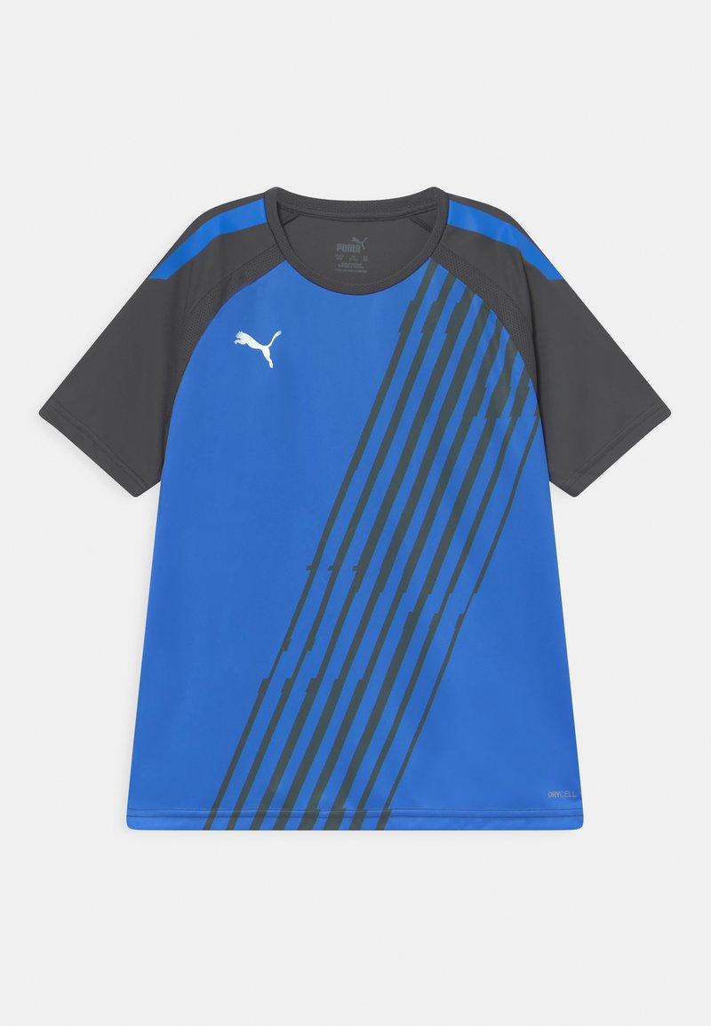 Puma - TEAM LIGA GRAPHIC JR UNISEX - Print T-shirt - bluemazing/asphalt