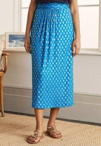 Boden - A-line skirt - marokkoblau paisleymuster - 0