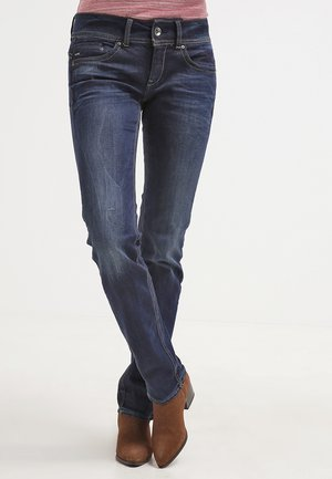 MIDGE SADDLE MID STRAIGHT  - Jeansy Straight Leg - denim