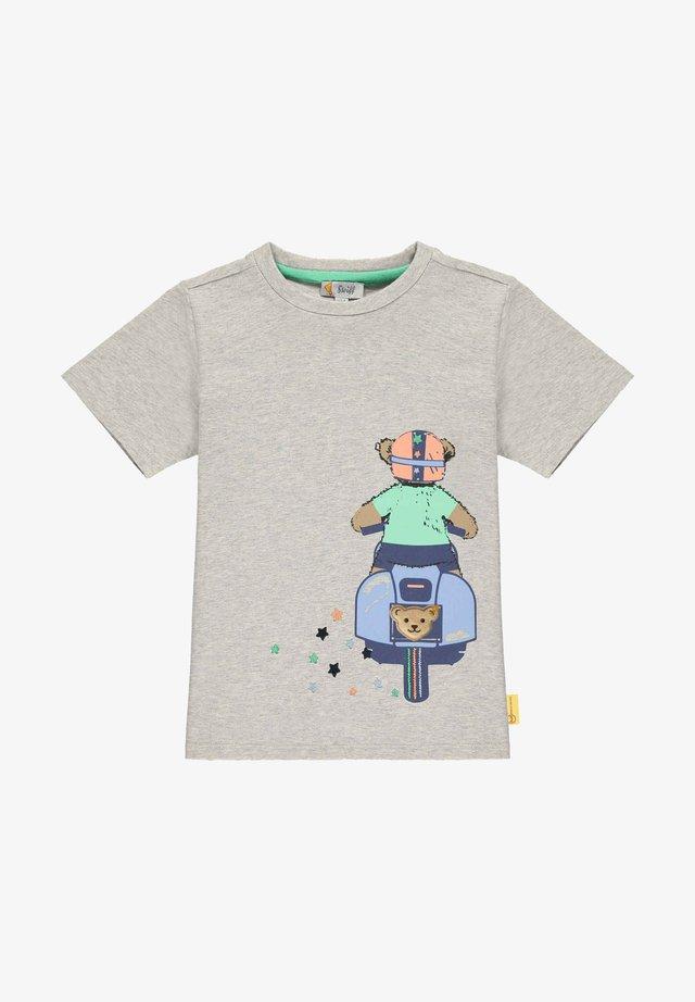 T-shirt print - soft grey melange