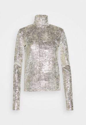 PIANETA - Long sleeved top - grigio/oro