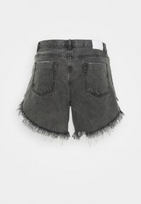 Glamorous Curve - RIPPED  - Shorts di jeans - washed black - 1