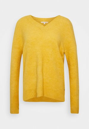 COSY VNECK - Svetr - indian spice yellow melange