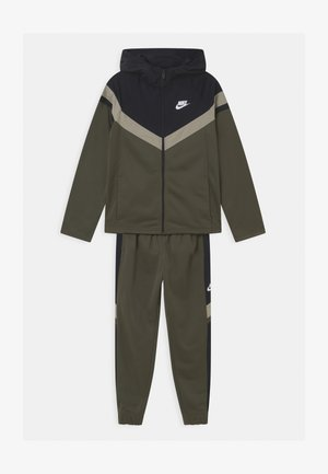 SET UNISEX - Trainingspak - cargo khaki/black/stone/white