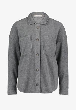 MIT AUFGESETZTEN TASCHEN - Button-down blouse - grey melange