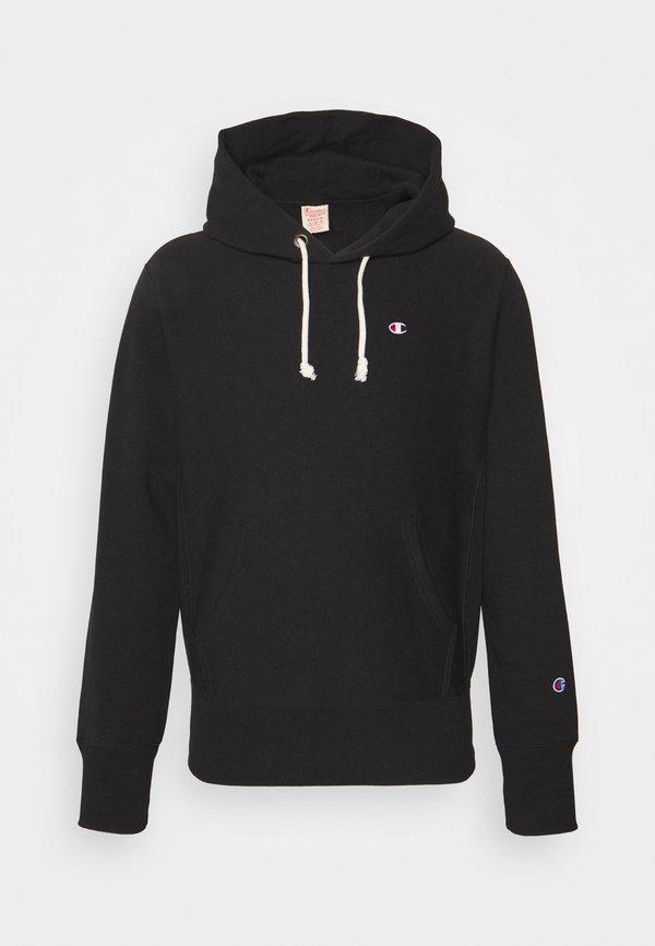 Champion Reverse Weave HOODED LABELS - Bluza - black/czarny Odzież Męska NUIO