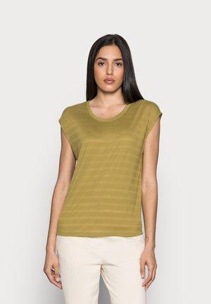 BURNOUT - Print T-shirt - olive