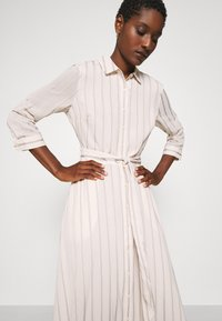 Banana Republic - SAVANNAH MAXI - SOFT SATIN - Shirt dress - black stripe - 4