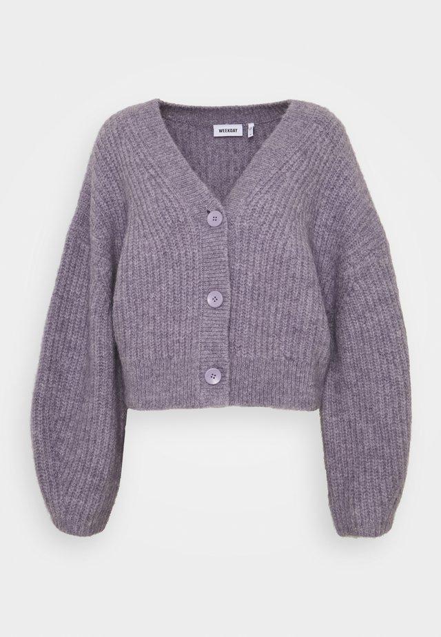 HILLEVI HAIRY  - Cardigan - lilac purple dusty light