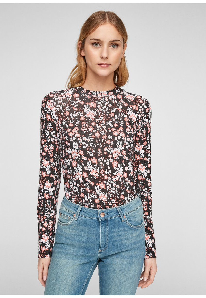 QS by s.Oliver - Long sleeved top - black aop