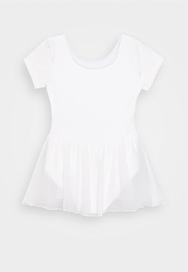 BALLET SHORT SLEEVE DRESS TIFFANY - Sportovní šaty - white