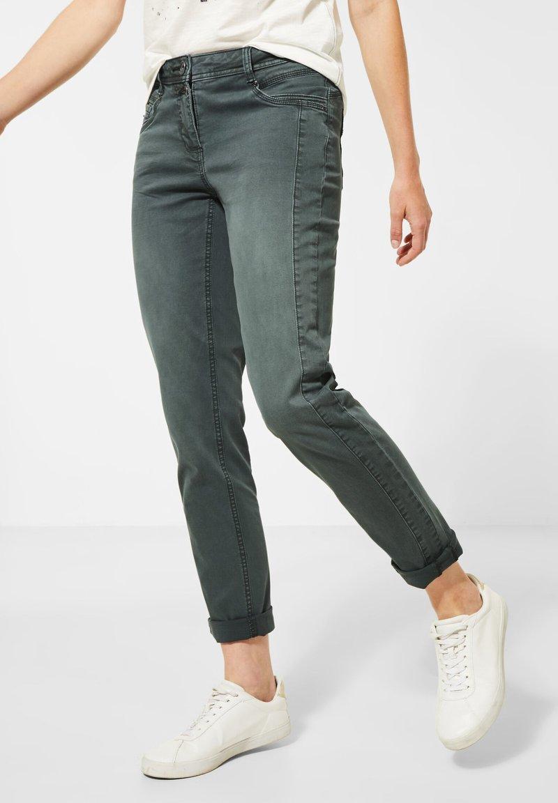 Cecil - Slim fit jeans - grün