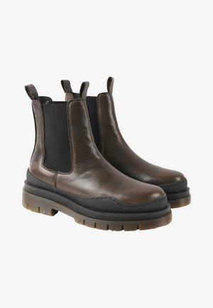 CREAM - Platform ankle boots - khaki