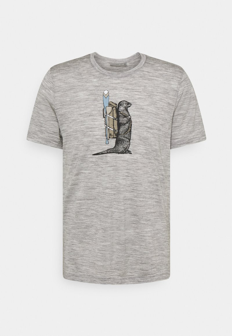 Icebreaker - TECH LITE CREWE OTTER PADDLE - Print T-shirt - grey