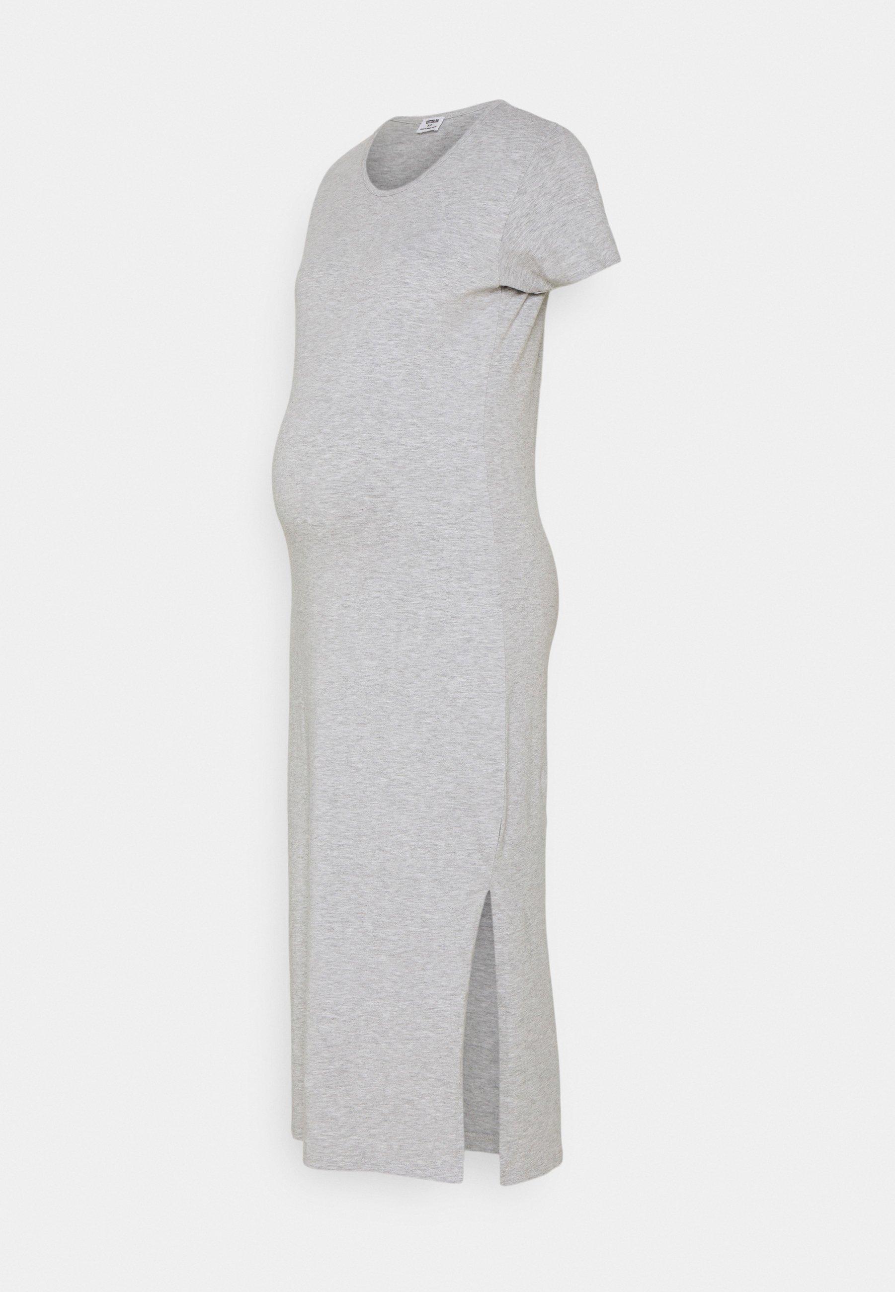Damen MATERNITY SHORT SLEEVE SPLIT FRONT MIDI DRESS - Jerseykleid