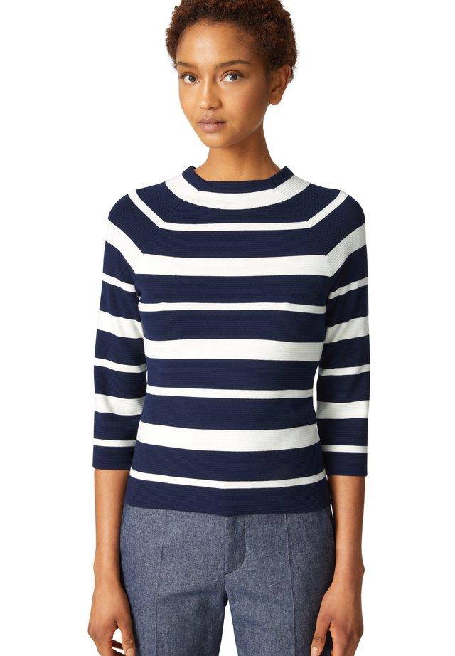 SILVA - Sweter - navy-blau/off-white