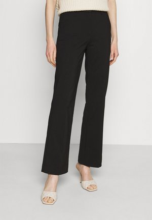 Flared trousers - Trousers - black