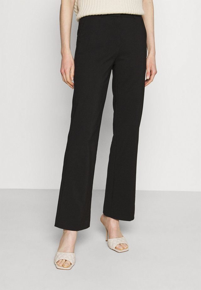 Flared trousers - Bukser - black