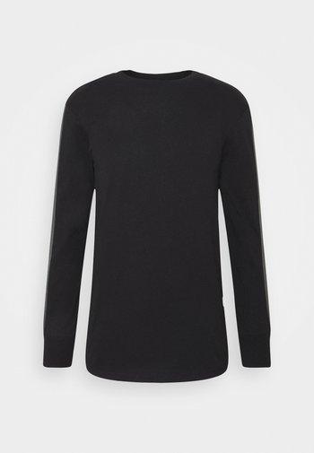 RAW SLEEVE LOGO - Långärmad tröja - black