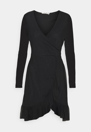 WRAP TIE DRESS - Vestido informal - black