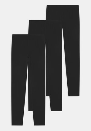 GIRL 3 PACK - Leggings - Trousers - black
