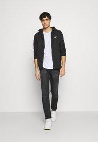 Schott - Zip-up hoodie - black - 1