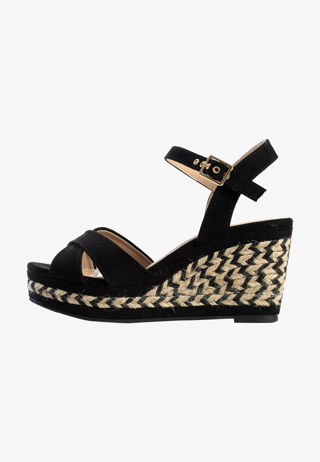 CHELSEY - Sandalen met sleehak - black