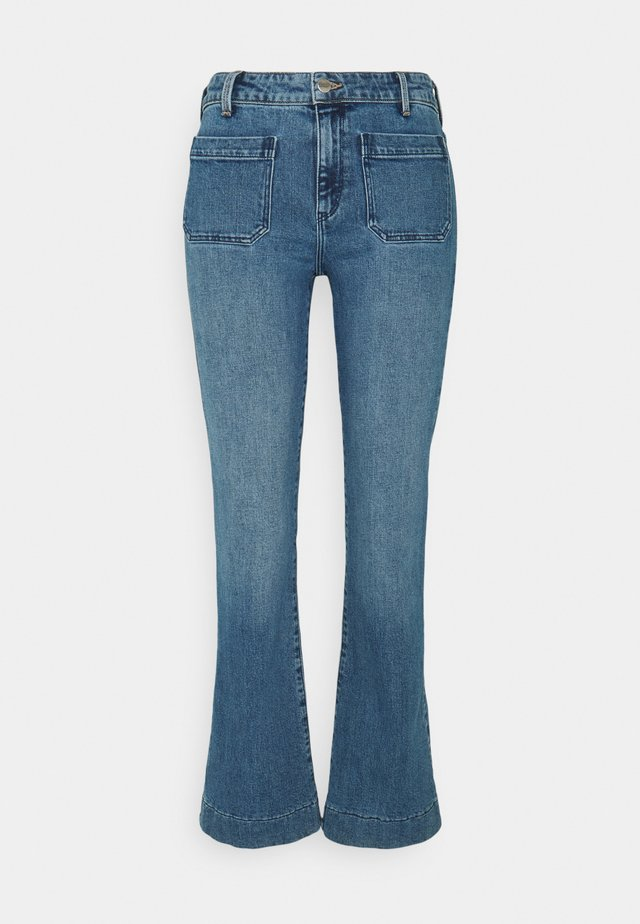 Flared Jeans - sandy