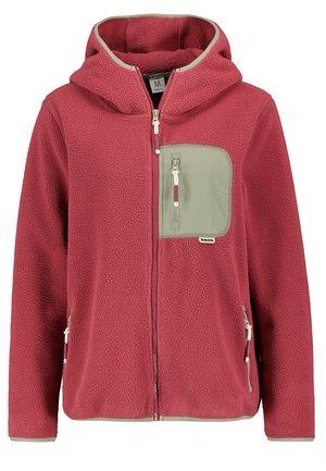 Fleece jacket - middle-red