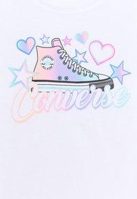 Converse - PRINTED BIKER SHORT SET - Legíny - white - 3