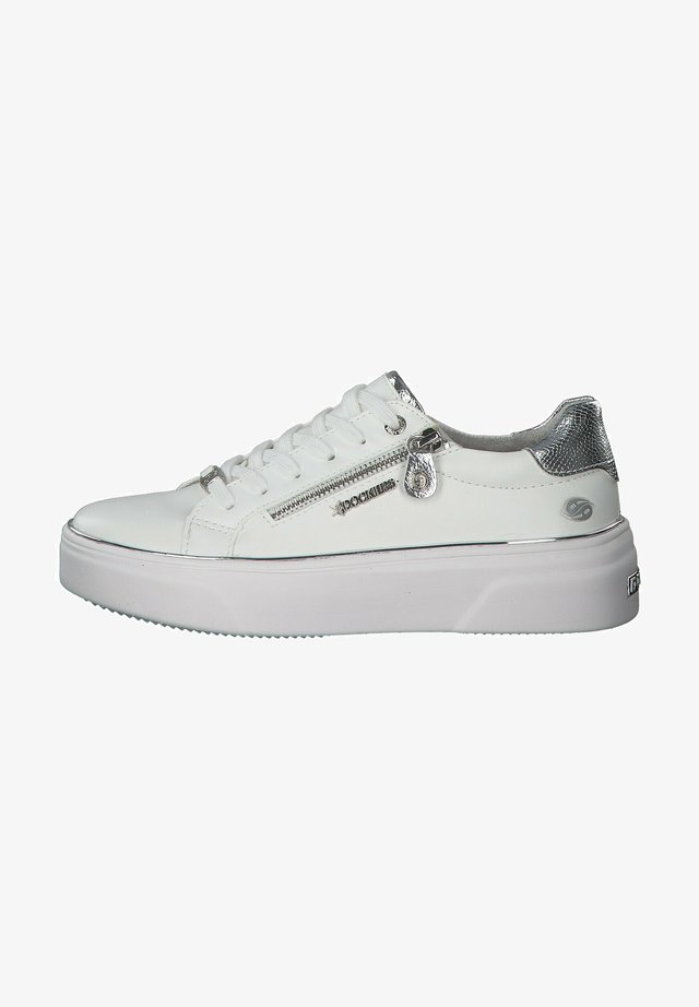 Trainers - weiss-silber