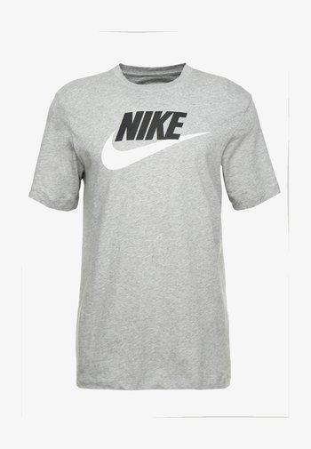 TEE ICON FUTURA - Print T-shirt - dark grey heather/black/white