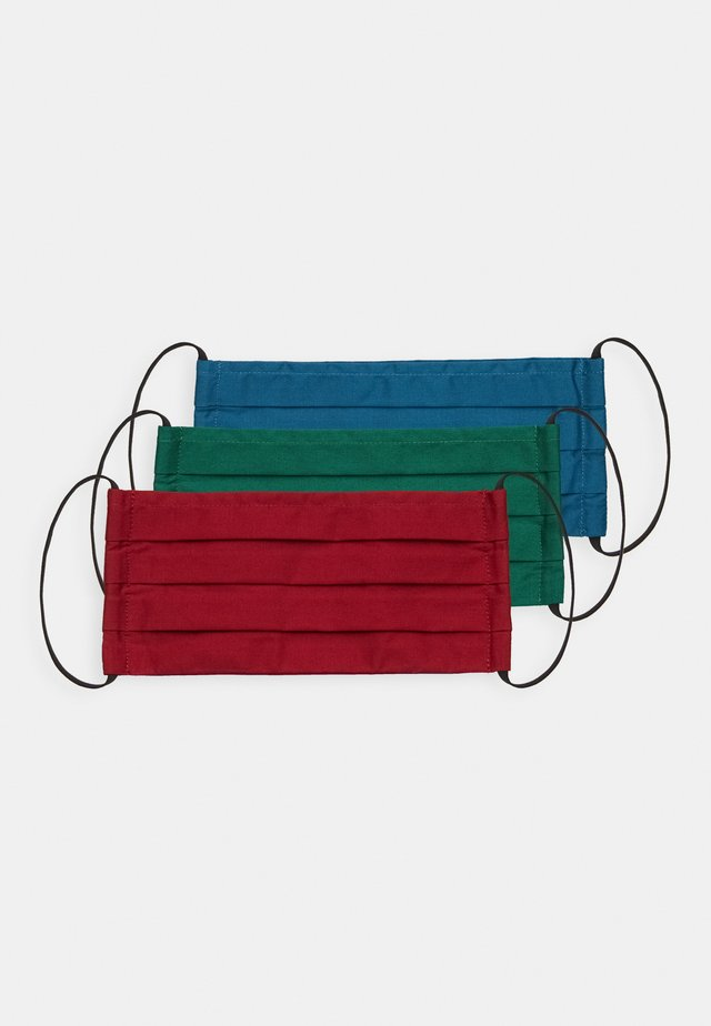 3 PACK - Stoffen mondkapje - dark red/dark blue/green