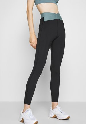 HIGH WAIST BANDED LEGGING - Punčochy - black