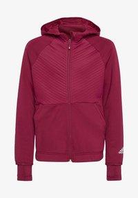 adidas Performance - Zip-up hoodie - powber/msilve - 0