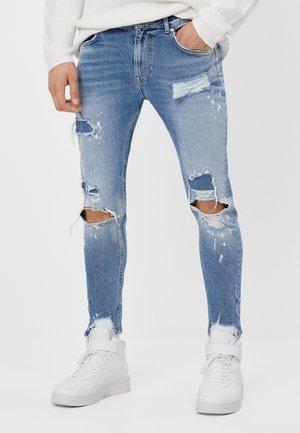 MIT RISSEN - Jeans Skinny - blue